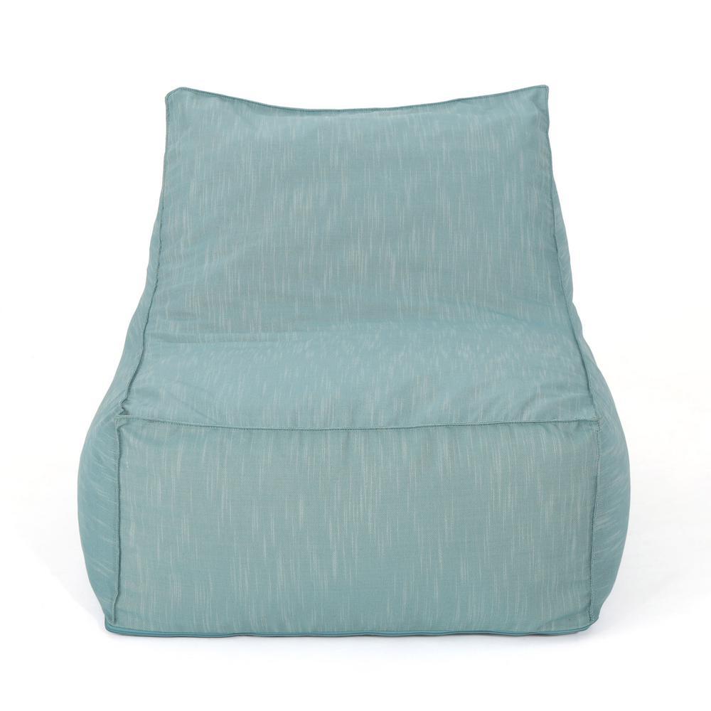 Siarl Teal Fabric Indoor Bean Bag Lounger