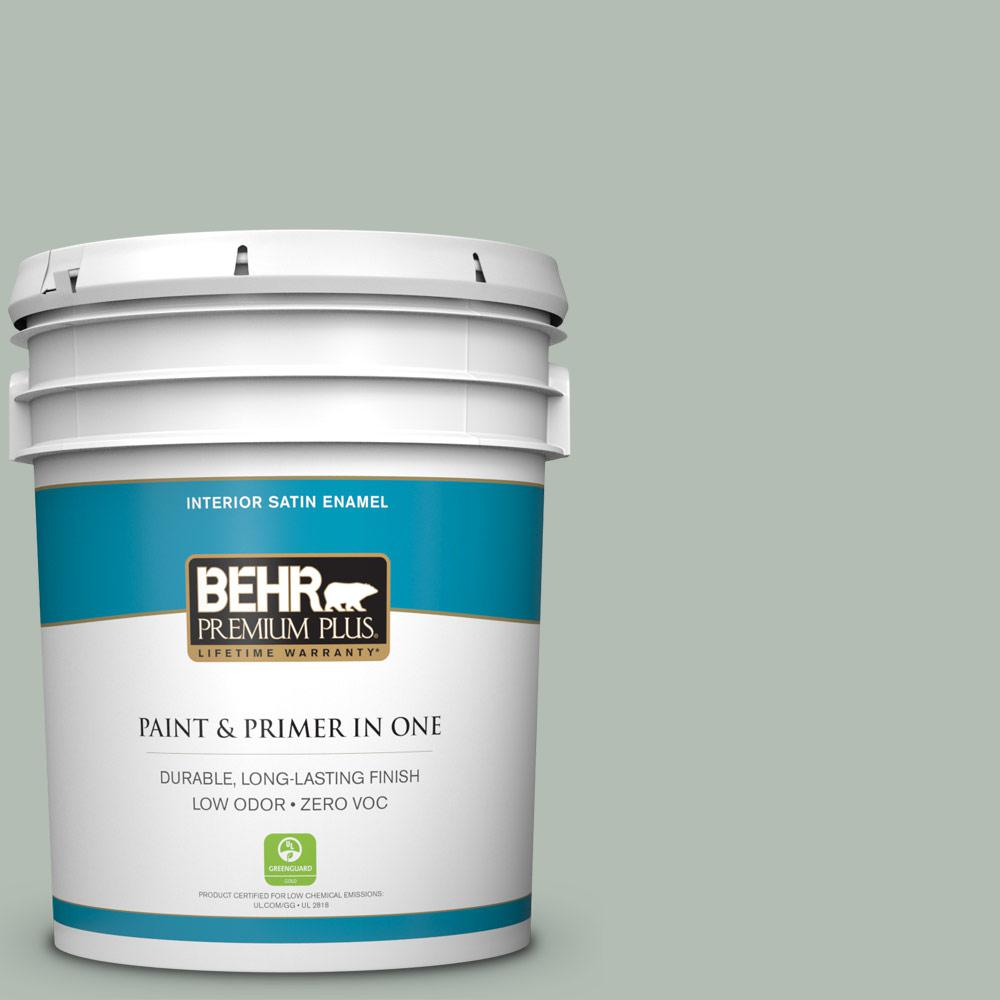 5-gal. #N400-3 Flagstaff Green Satin Enamel Interior Paint