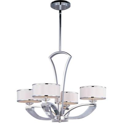 Maxim Lighting Metro 4-Light Chrome Single-Tier Chandelier