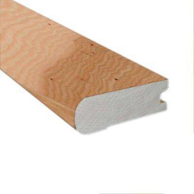 Unfinished Hickory 0.81 in. Thick x 2-3/4 in. Wide x 78 in. Length Hardwood Flush-Mount Stair Nose Molding