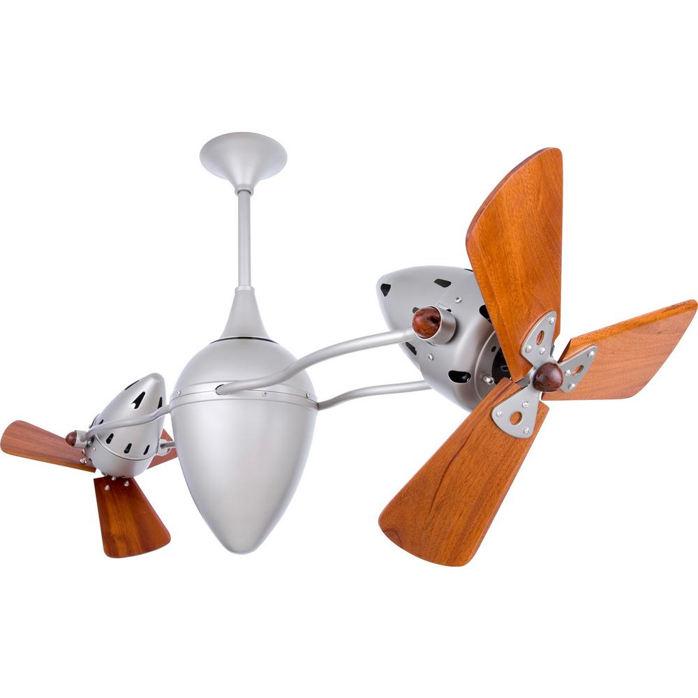 Ar Ruthiane 48 in. Indoor/Outdoor Brushed Nickel Ceiling Fan with Wall