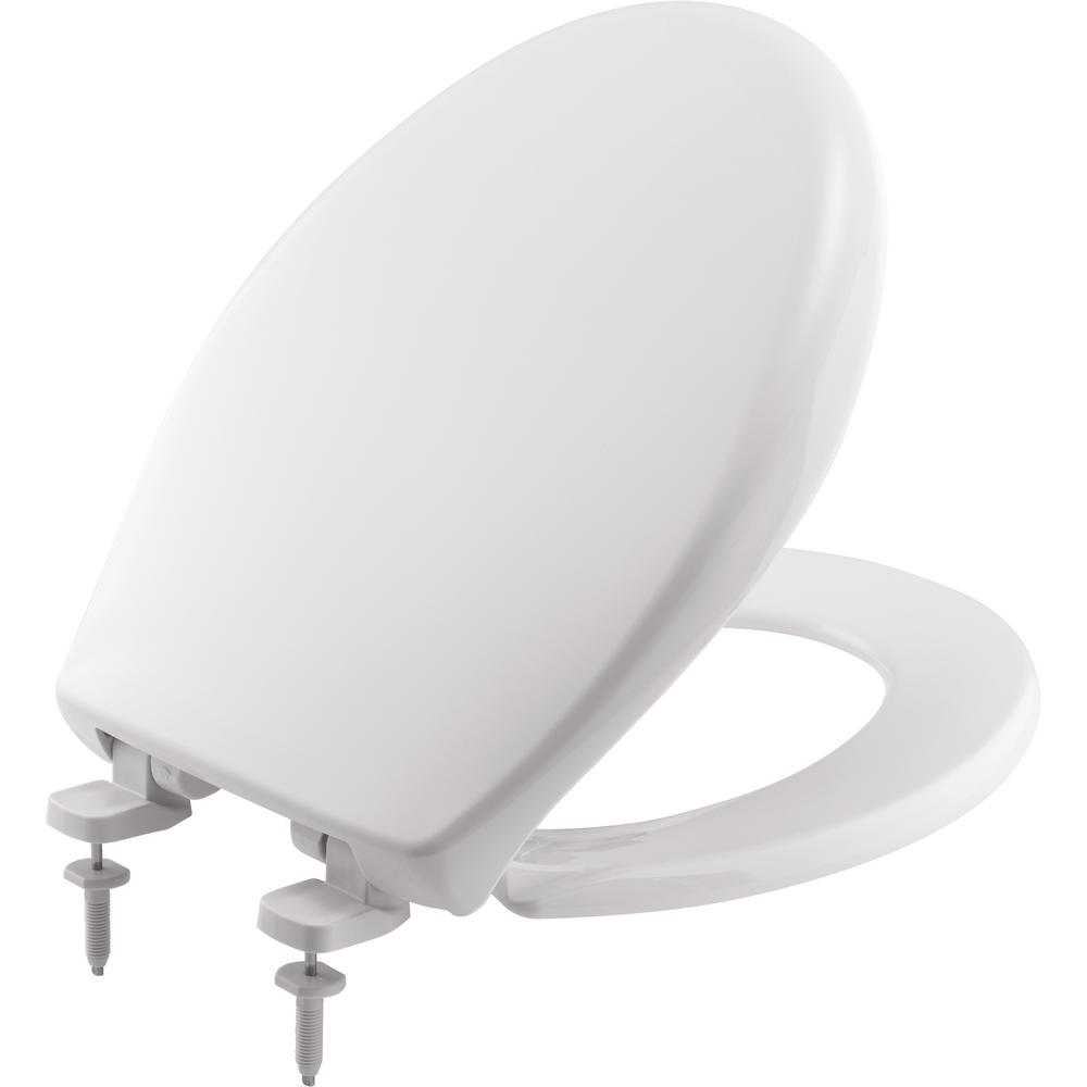 Marvelous Bemis Just Lift Round Closed Front Toilet Seat In White Gmtry Best Dining Table And Chair Ideas Images Gmtryco