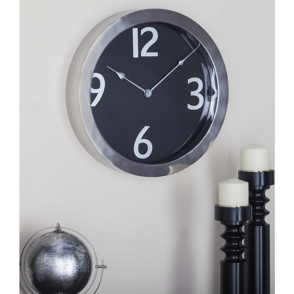 Black Analog Wall Clock