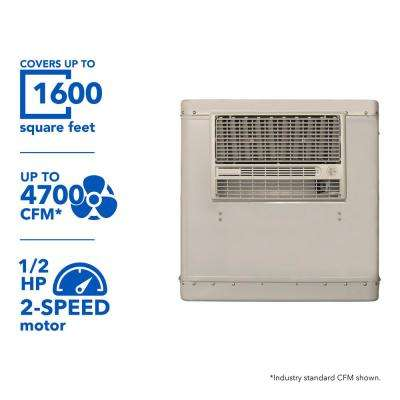4700 CFM 2-Speed Window Evaporative Cooler for 1600 sq. ft. (with Motor and Remote Control)
