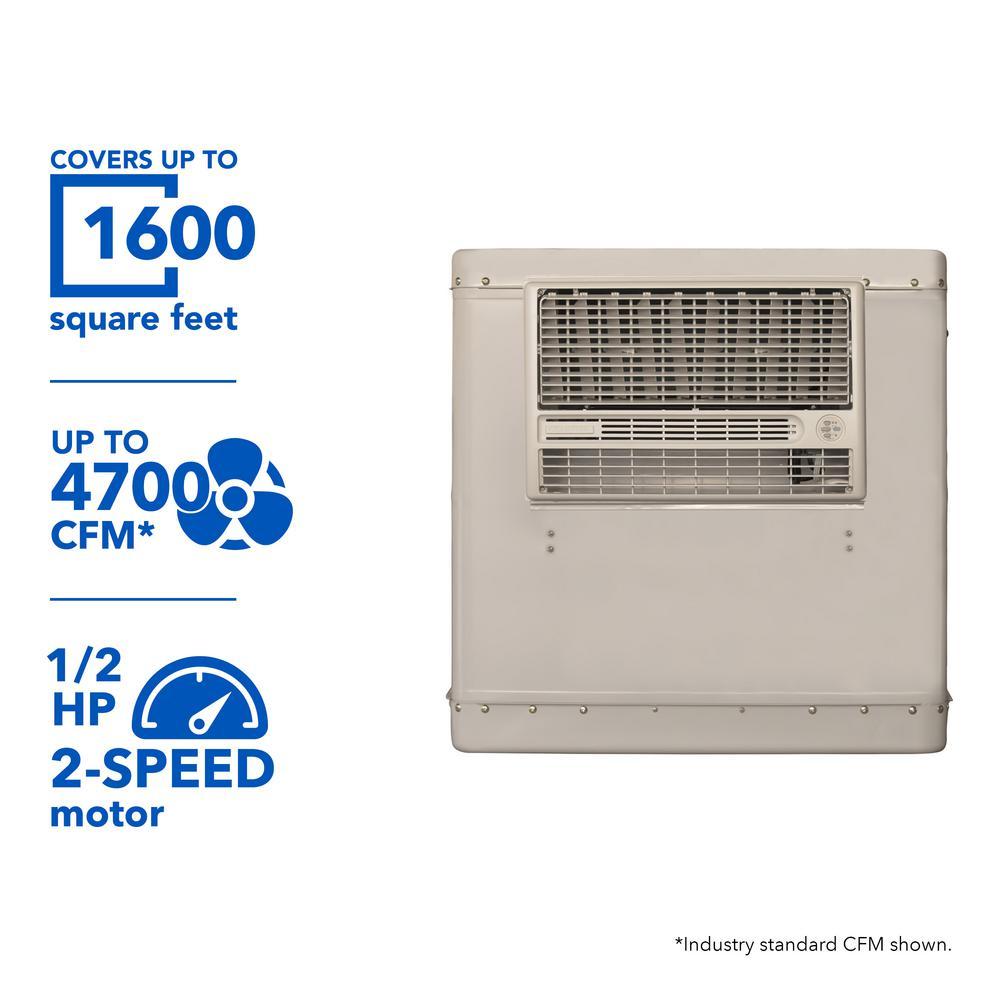 champion cooler 4700 cfm 2 speed window evaporative cooler for 1600 rh homedepot com