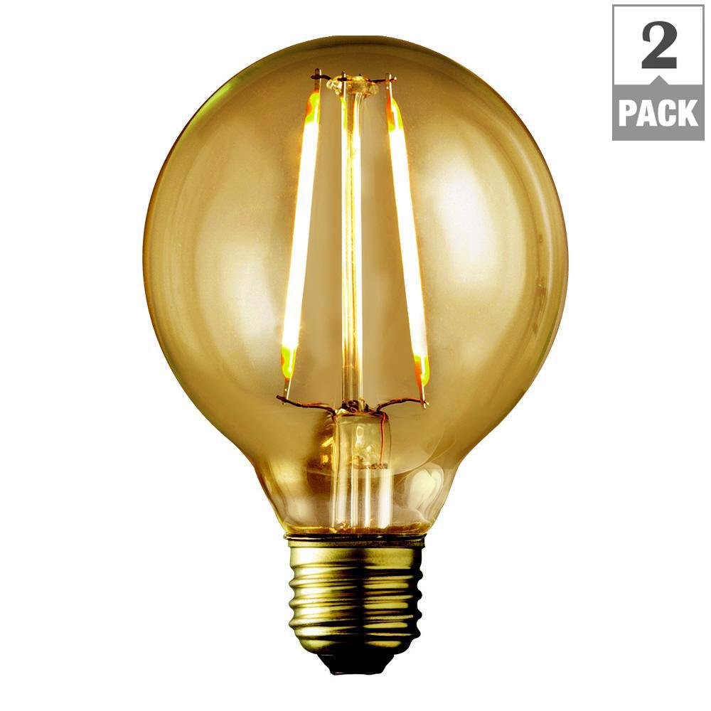 Newhouse Lighting 40w Equivalent Incandescent G25 Dimmable: Philips 60-Watt Equivalent G25 LED Light Bulb Daylight