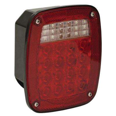 5.75 in. Box Style 3-Stud Stop/Turn/Tail Light with Reflex