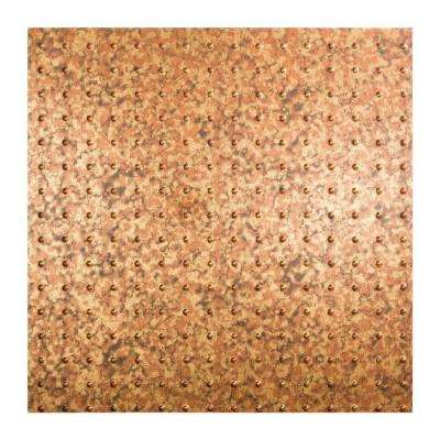Minidome - 2 ft. x 2 ft. Lay-in Ceiling Tile in Cracked Copper