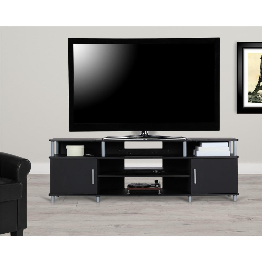 70 in. Windsor Black TV Stand