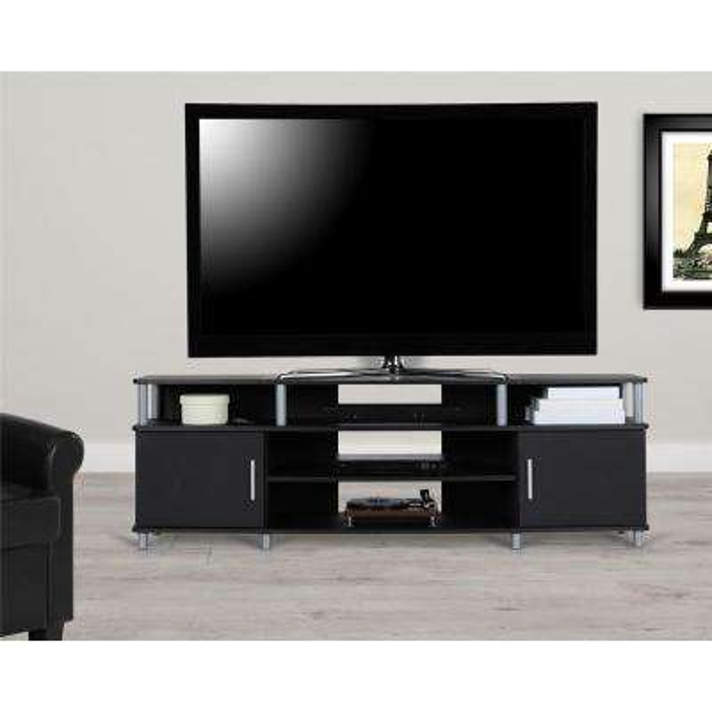70 in. Windsor Black TV Stand