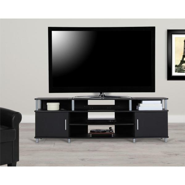 Ameriwood Home 70 in. Windsor Black TV Stand HD71935