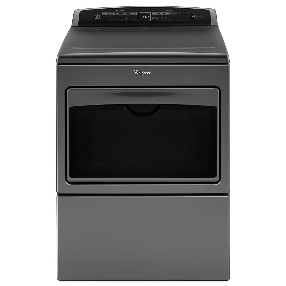 Whirlpool 7.4 cu. ft. 240-Volt Chrome Shadow Electric Vented Dryer with AccuDry and Intuitive Touch Controls