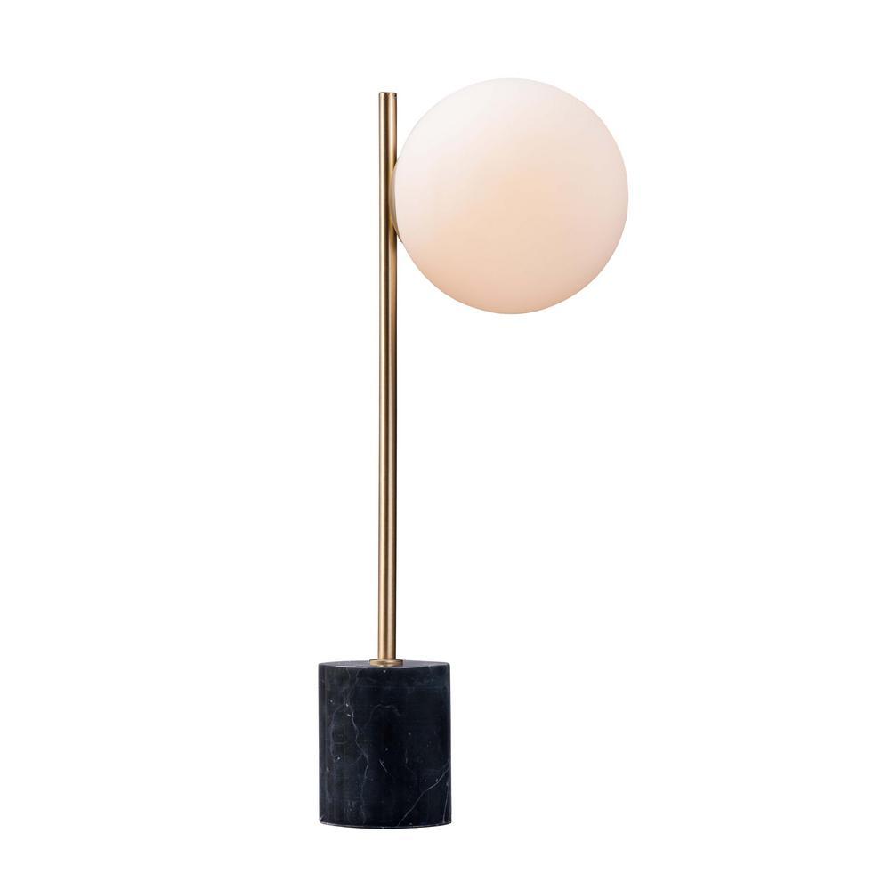 Maxim Lighting Vesper 22 In Tall Satin Br Black Table Lamp