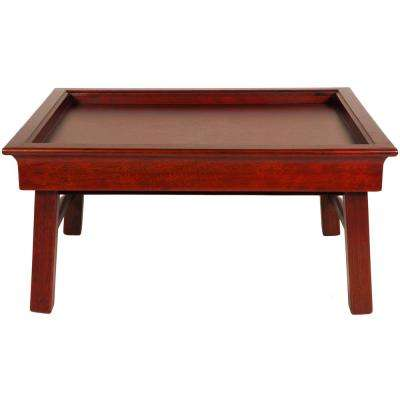 Oriental Furniture 19 in. x 15 in. Tea Tray in Honey