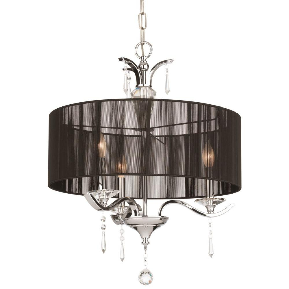 Thomas Lighting Jacqueline 3-Light Chrome Pendant-DISCONTINUED