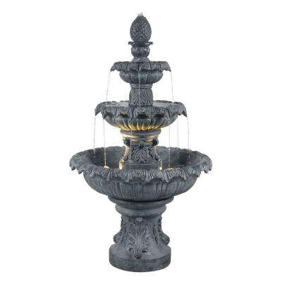 Costa Brava Lighted Outdoor Fountain