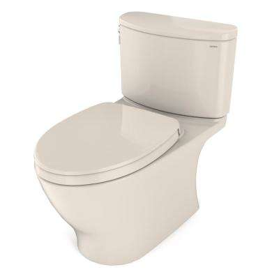 Nexus 1G 2-Piece 1.0 GPF Single Flush Elongated Universal Height Toilet with CEFIONTECT in Sedona Beige, Seat Included