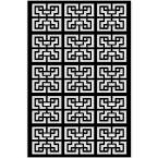 Chinese Maze 32 in. x 4 ft. Black Vinyl Decorative Screen Panel