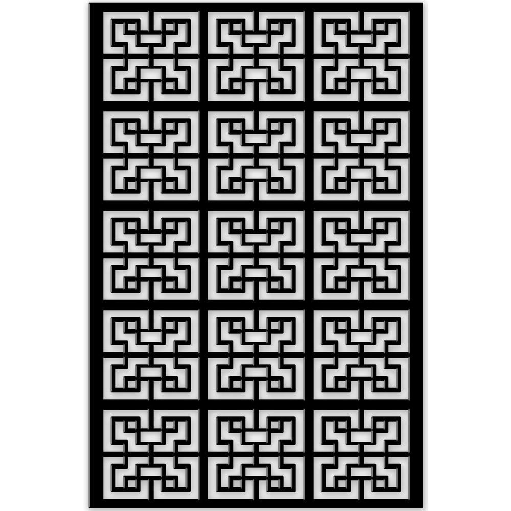 1/4 in. x 32 in. x 4 ft. Black Chinese Style