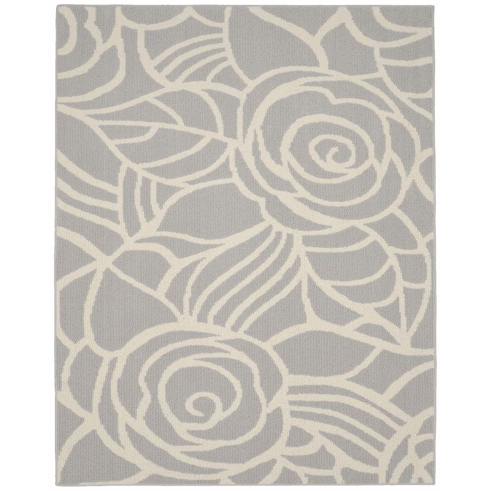 Garland Rug Rhapsody Silver Ivory 8 Ft X 10 Ft Area Rug Ll340a096120d1 The Home Depot