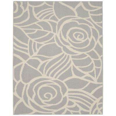 Rhapsody Silver/Ivory 8 ft. x 10 ft. Area Rug