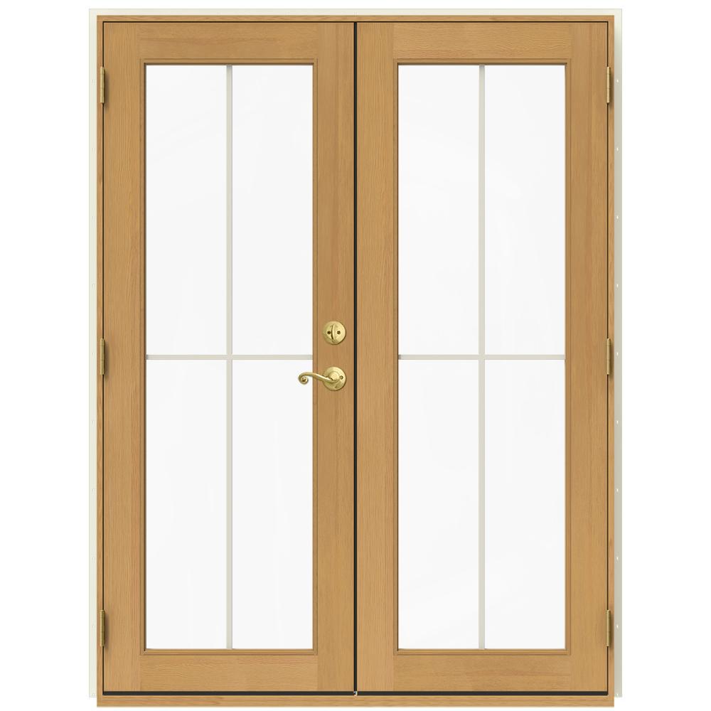 jeld wen 60 in x 80 in w 2500 vanilla clad wood - 60 Patio Door