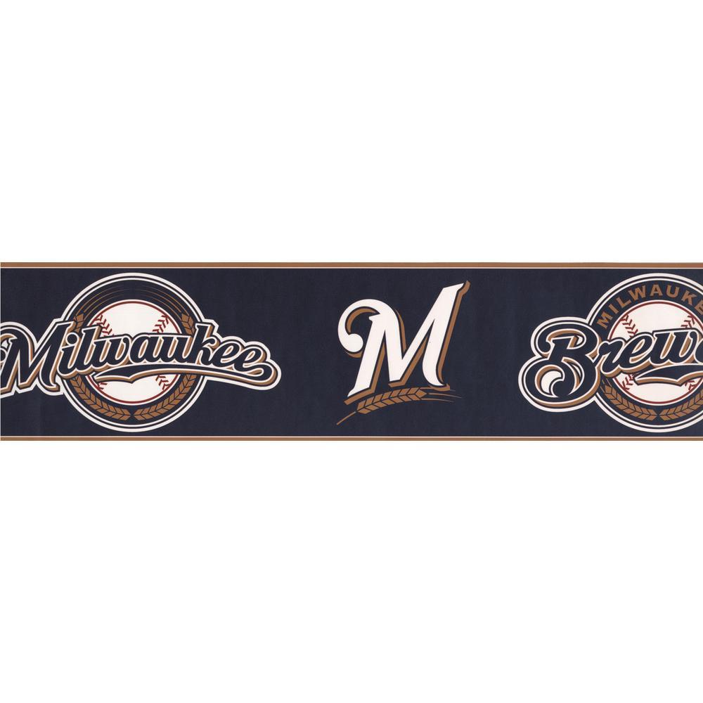 York Wallcoverings Milwaukee Brewers
