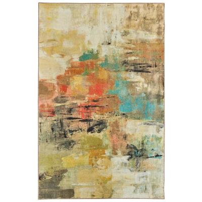 Painted Gaze Metropolitan Multi 8 ft. x 10 ft. Abstract Area Rug