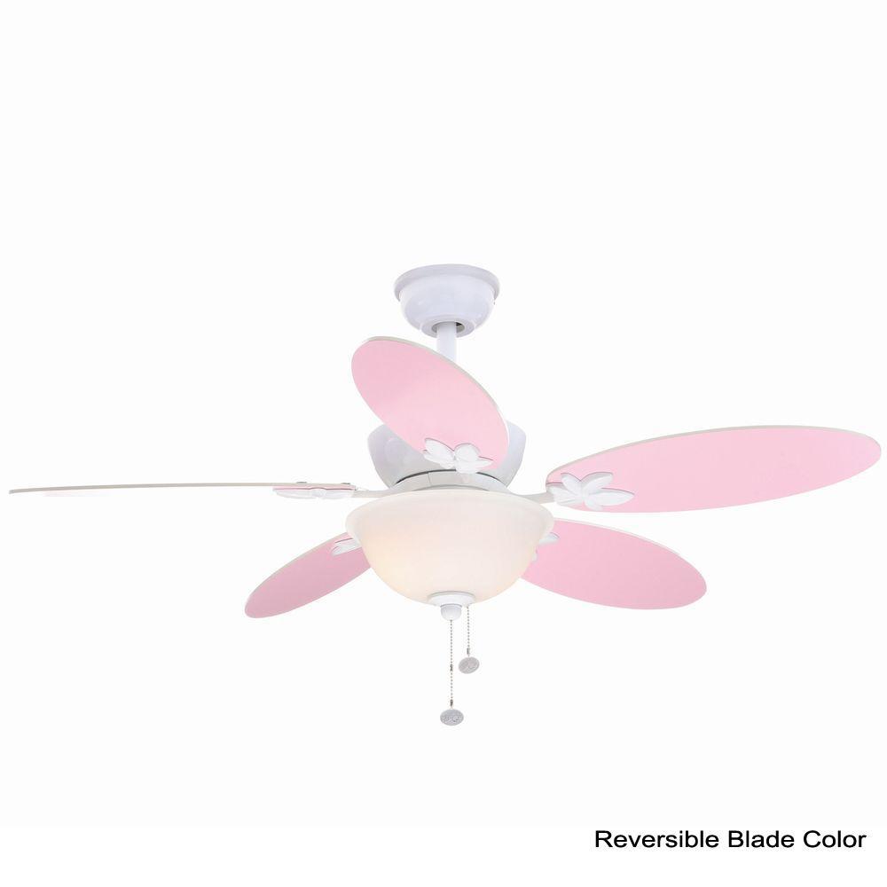 Harper III 44 in. Indoor White Ceiling Fan with Light Kit
