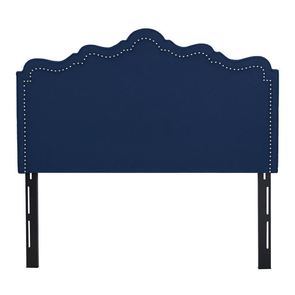 Ela Midnight Blue Queen Headboard