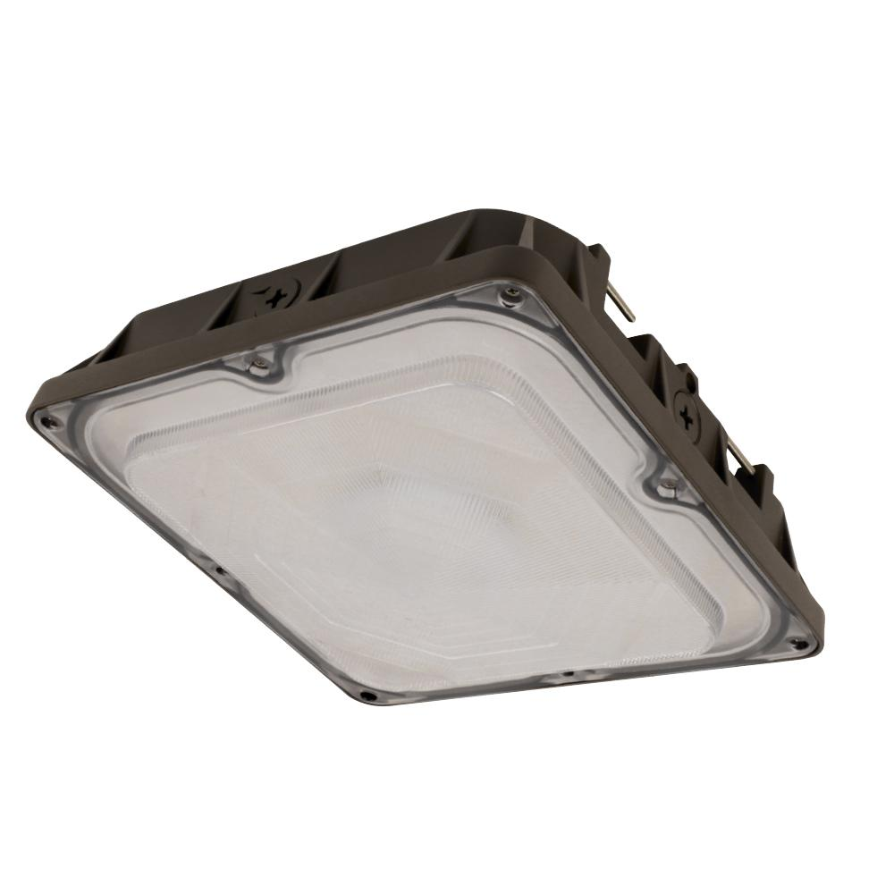 Commercial Grade 45-Watt Bronze Outdoor Integrated LED 10 in. Security Canopy