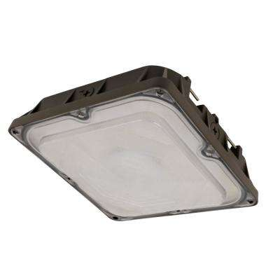 Commercial Grade 45-Watt Bronze Outdoor Integrated LED 10 in. Security Canopy Flushmount Wall Pack Light