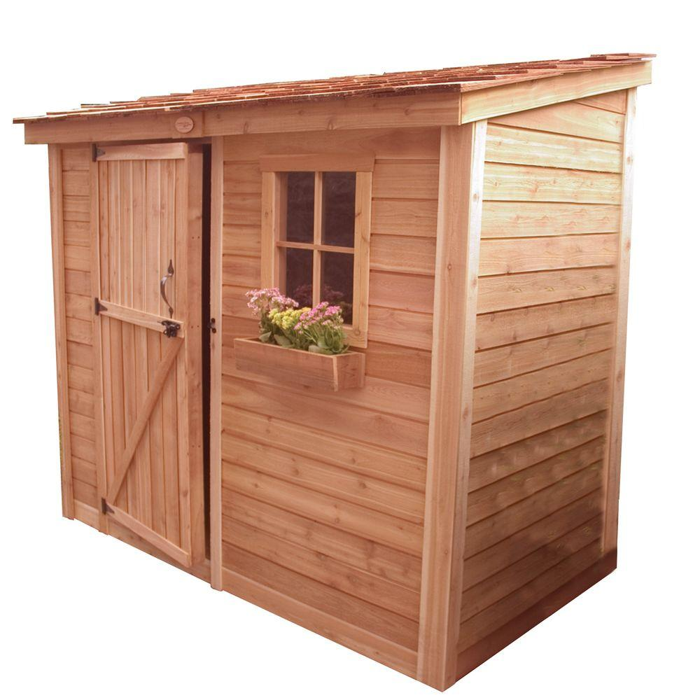 Outdoor Living Today Spacesaver 8 ft. x 4 ft. Western Red Cedar Single Door Shed