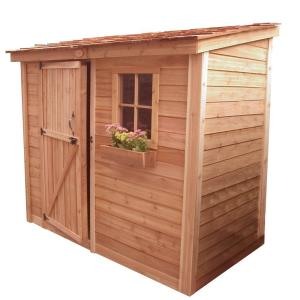 Outdoor Living Today Spacesaver 8 ft. x 4 ft. Western Red Cedar Single Door Shed by Outdoor Living Today
