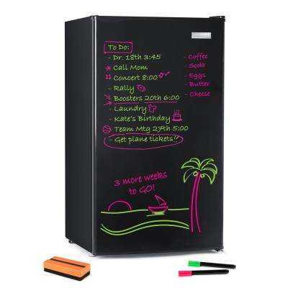 3.2 cu. ft. Dry Erase Board Mini Refrigerator, Black
