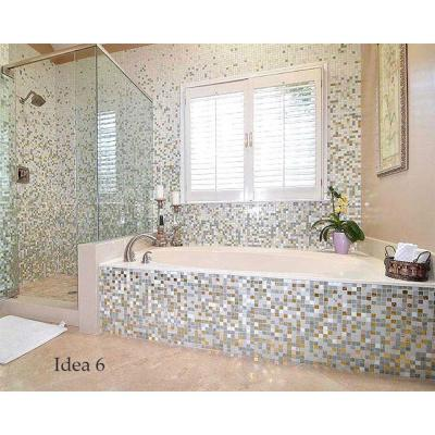 Light Brown 12 in. x 12 in. x 4 mm Glass Mosaic Tile DIY Kit (10 sq. ft./case)