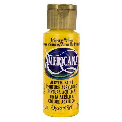 Americana 2 oz. Primary Yellow Acrylic Paint
