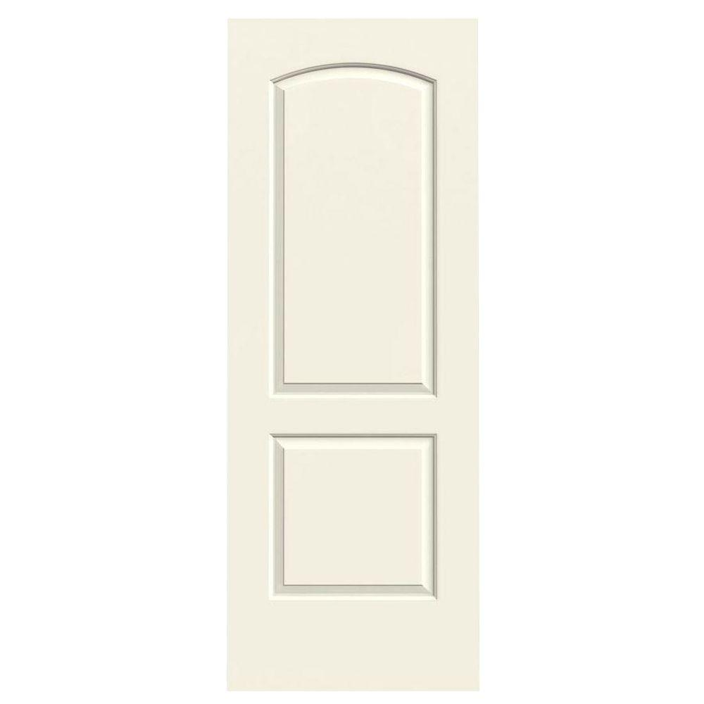30 in. x 80 in. Continental Vanilla Painted Smooth Molded Composite