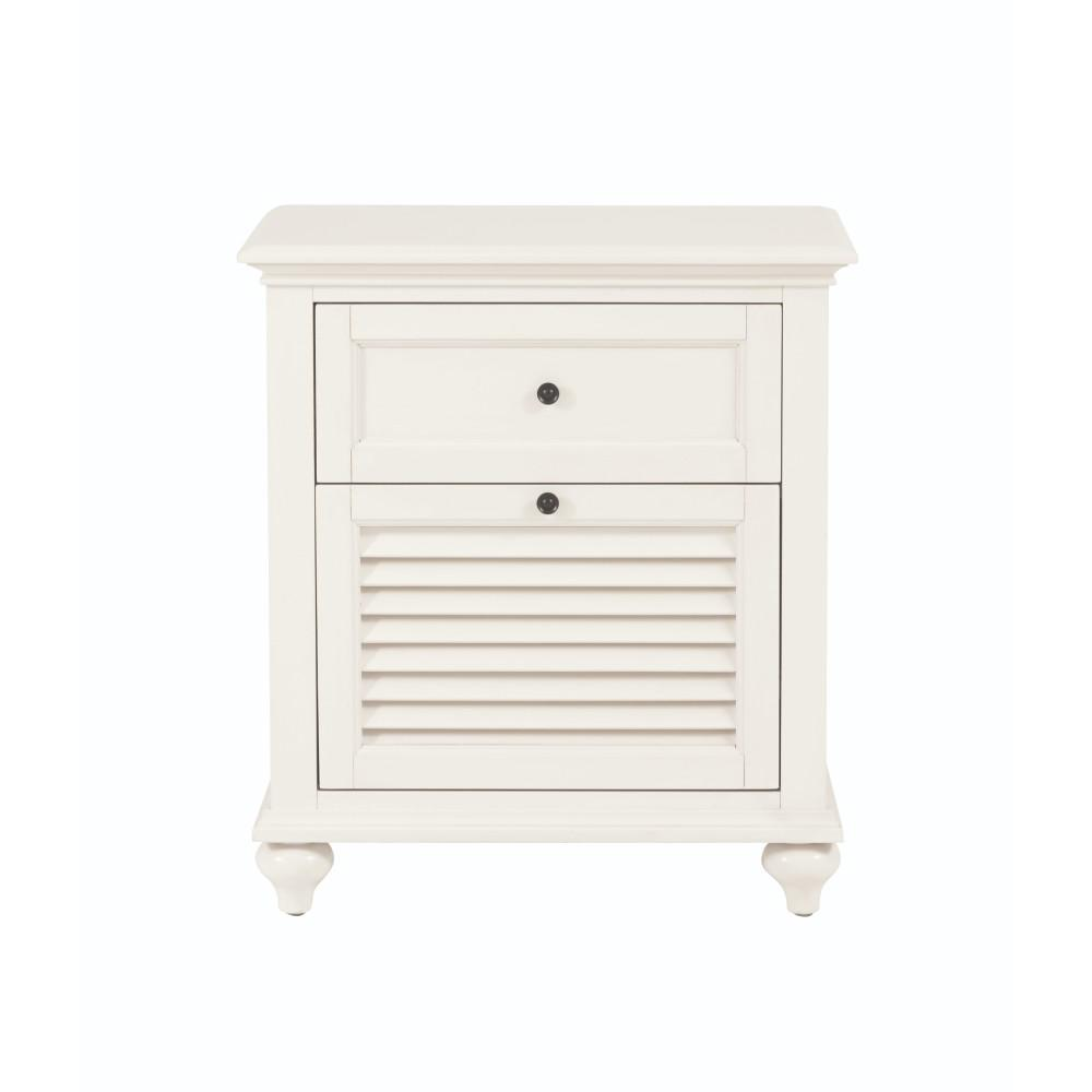 Home Decorators Collection Hamilton 2-Drawer White Nightstand
