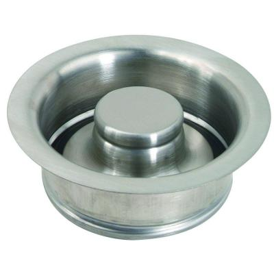 3-1/2 in. Garbage Disposal Flange and Stopper Kit in Stainless Steel PVD