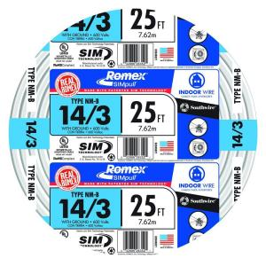 f5cfed23127 Southwire 15 ft. 14 2 Solid Romex SIMpull CU NM-B W G Wire-28827426 ...