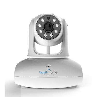 Wireless HD 720P White Pan and Tilt Wi-Fi Dome Standard Surveillance Camera with 2-Way Audio and Night Vision