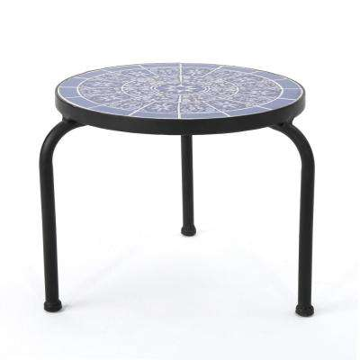 Caiden Round Metal Outdoor Side Table