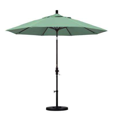 9 ft. Aluminum Collar Tilt Patio Umbrella in Spa Pacifica