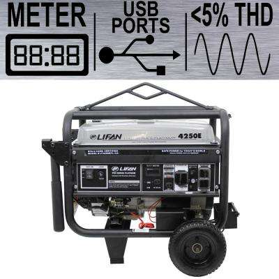 Platinum Series 4,250/3,500-Watt Gasoline Powered Portable Generator with THD Clean Sine Wave Power Portable Generator