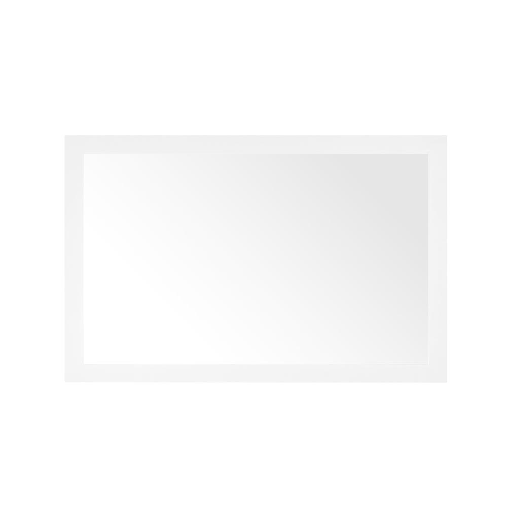 Home Decorators Collection Grace 46 in. x 30 in. Single Framed Wall Mirror in White