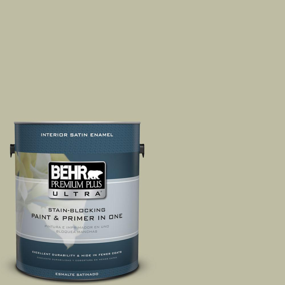 BEHR Premium Plus Ultra 1-gal. #PPF-24 Garden Lattice Satin Enamel Interior Paint