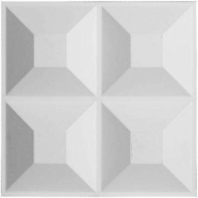 1 in. x 11-7/8 in. x 11-7/8 in. PVC White Swindon EnduraWall Decorative 3D Wall Panel