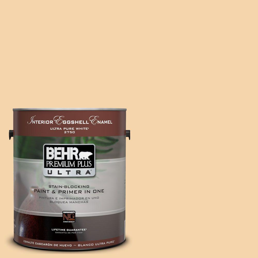 BEHR Premium Plus Ultra 1-Gal. #UL150-12 Pale Honey Interior Eggshell Enamel Paint