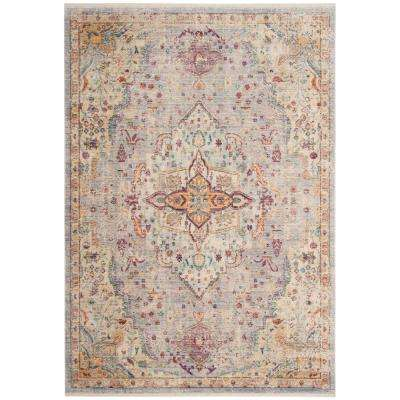 Illusion Lilac/Light Gray 6 ft. x 9 ft. Area Rug
